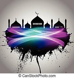 Abstract grunge Eid Mubarak background