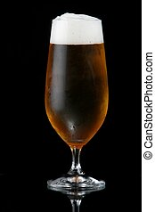 Beer or Lager in Glass - Ice cold beer with frothy head...