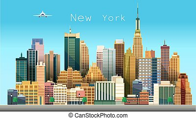 New York city Vector illustration - New York city Stylized...