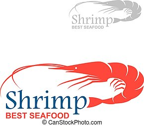Best seafood badge design with royal red shrimp - Royal red...