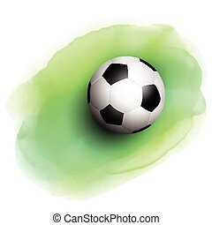 football on watercolor background
