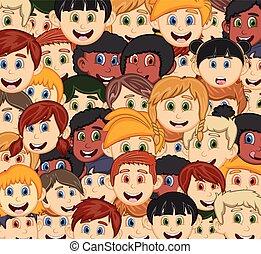 Face of children cartoon