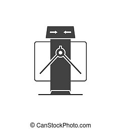Tripod turnstile isolated on white Vector illustration