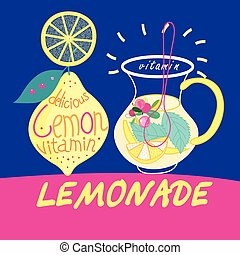 delicious drink lemonade - Beautiful vector illustration...