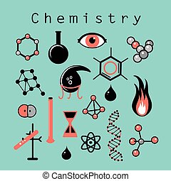 different chemical elements - Beautiful vector illustration...