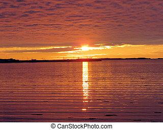 Newfoundland the sunset 2016 - The sunset in Newfoundland, 5...