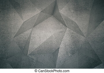 Polygon pattern on wall - Abstract polygon patterned dark...