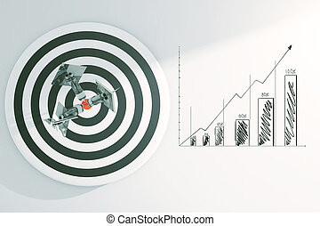 Targeting concept with business sketch - Targeting concept...
