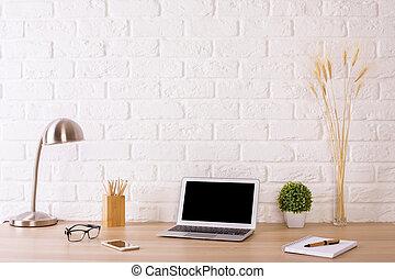 Creative designer workspace - Creative designer desktop with...