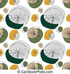 Water Lily seamless pattern