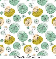 Lily pad seamless pattern