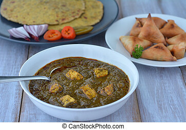 Punjabi Palak Paneer dish - Traditional Indian cuisine of...