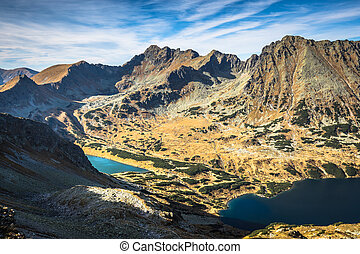 Beaitiful Mountain lake in the summer, Valley of five lakes,...