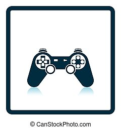 Gamepad icon Shadow reflection design Vector illustration...