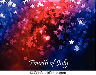 illustration of abstract for Independence Day - illustration...