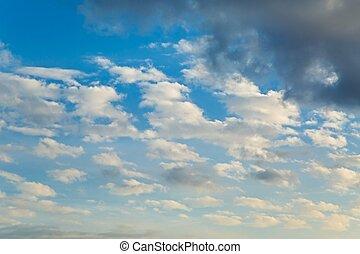 Clouds in the sky - Clouds in the blue sky