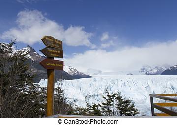 Balcony system at Perito Moreno Glacier, Los Glaciares...