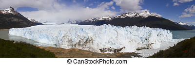 Face of Perito Moreno Glacier, Los Glaciares National Park,...