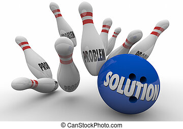 Problem Solution Bowling Ball Pins Strike Solved 3d...