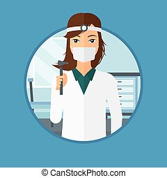 Ear nose throat doctor. - Ear nose throat doctor standing in...