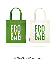 Eco Fabric Cloth Bag Tote Vector - Eco Fabric Cloth Bag Tote...