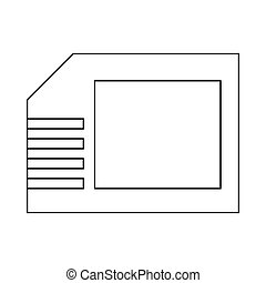 Micro sd card icon, outline style - Micro sd card icon in...