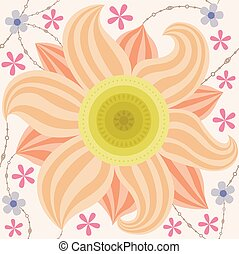 Big flower pattern vintage - Vector big flower pattern...