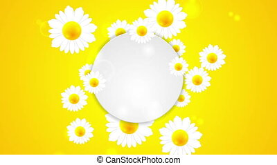 Summer video animation with camomiles - Summer motion...