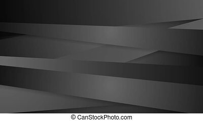 Black abstract corporate striped video animation - Black...