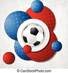 European Football Championship in France vector design -...