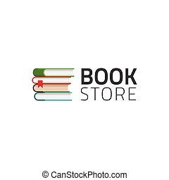 Bookstore logo vector symbol isolated on white background