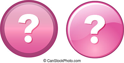 Question Mark Button Label on pink tone in two different...