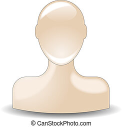 bust buddy icon in natural skin color tone