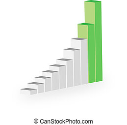 business statistics graph diagram with bars
