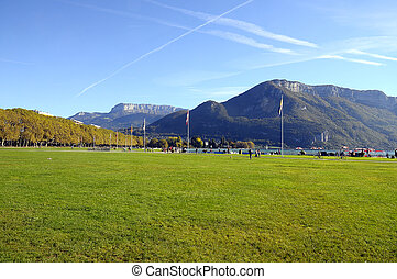 Lake of Annecy and Paquier walkpath, in france - Overview...