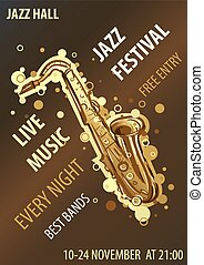 Retro styled Jazz festival Poster. Abstract style vector...