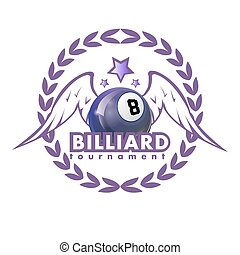 Vector Design Billiards, pool and snooker sport icon....