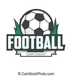 Soccer Football Badge Logo Design Template. Vector...