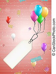 background with balloons and confetti - color background...
