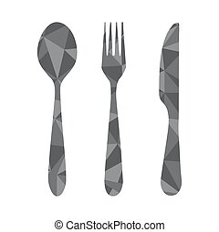 fork spoon knife geometric
