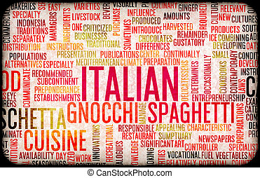 Italian Food Menu - Italian Food and Cuisine Menu Background...