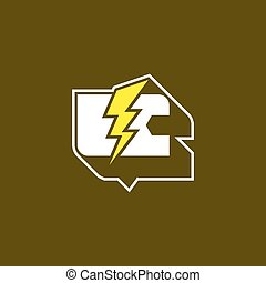 Eco car logo - E-car logo, eco car, white