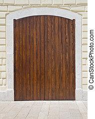 Wooden frontdoor