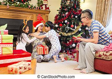 Merry Christmas Mum! - Chinese family enjoying Christmas in...