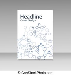 Brochure cover with abstract connect patterns