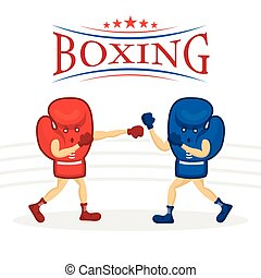 Boxing Gloves Character - Boxing, Fight, Match, Game