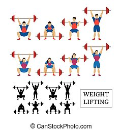 Weightlifting Athlete, Men and Women - Snatch, Clean and...