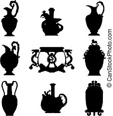 Ancient vases (vector)
