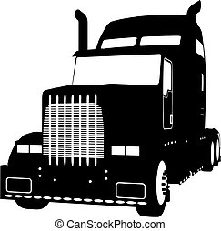 truck vector - truck made in vector