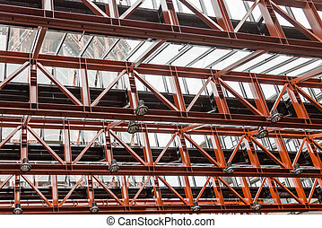 Lights on Steel Girders under Glass Roof